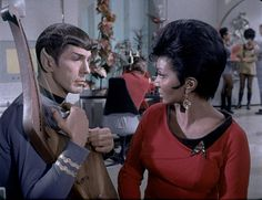 Spock and Uhura from Deleted Elaan Scene.