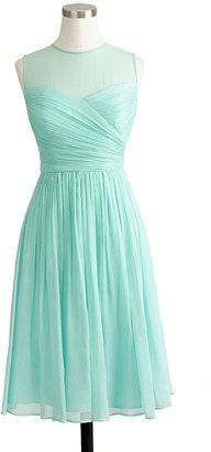 j crew short mint bridesmaid gown