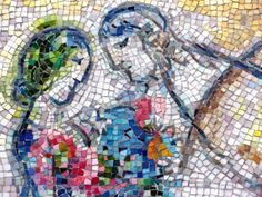 It's Chagall's Four Seasons, a mosaic located in the Chase Tower Plaza on Dearborn and Monroe streets. in Chicago, IL