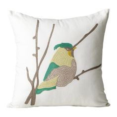The Bird Flora Toss Cushion from Urban Barn is a unique home décor item. Urban Barn carries a variety of Cushions and other  Accents furnishings.