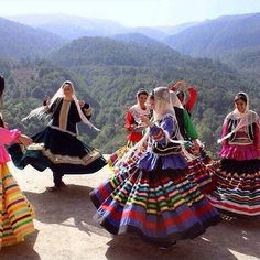 Gilaki Women dancing with their traditional costume in Masouleh, Guilan, North of Iran Pin from: https://www.facebook.com/Inja.guilan/photos/a.166730376685292.35641.148816875143309/908310985860557/?type=1