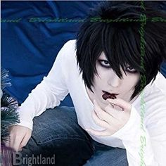 Flyingdragon DEATH NOTE L¡¤Lawliet Short Layered Black Cosplay Hair Wig Review