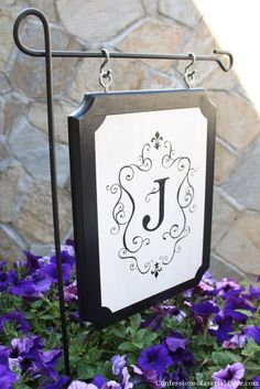 Monogrammed Outdoor Sign...love it...much better than the flag ones.