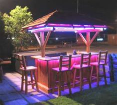 Cool tiki bar lighting!