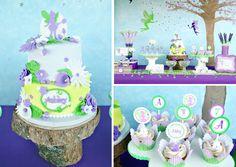 Tinker Bell Fairy Birthday Party via Kara's Party Ideas karaspartyideas.com #tinker bell #party #fairy #ideas #cake