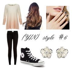 """""""(Y/N) style #6"""" by the-super-cool-muggle ❤ liked on Polyvore featuring Joie, Converse and Shaun Leane"""
