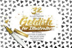 Goldish Kit. For Illustrator Extras by ZelenskyRuslan