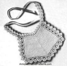 Crochet Baby Bib - Vintage Baby Bib Pattern