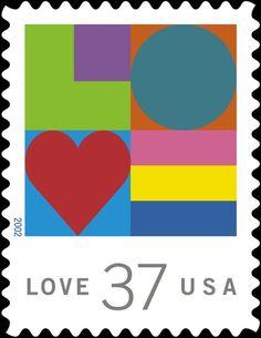 USA Love Postage Stamp, 2002