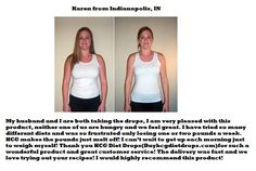 HCG Diet Drops Testimonials from Karen - Indianapolis, IN