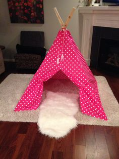 Polka Dot Teepee: This custom children's teepee will be the fort of choice for your little one.