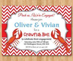 Crawfish Boil Invitation Couples Shower Invitation Crawfish Shower