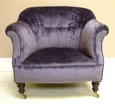 Lovely Purple Crushed Velvet Chair