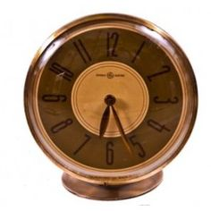 "Original c. 1940 art deco style machine age ""overseer"" table or desk electric clock. #vintageclock #antiqueclock"
