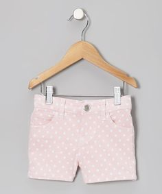 Pink Polka Dot Shorts - Toddler & Girls by Crystal Vogue on #zulily