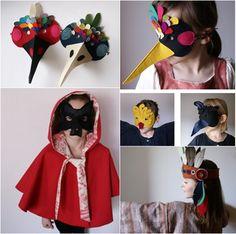 Máscaras de fieltro para completar disfraces caseros   Fiestas infantiles y cumpleaños de niños