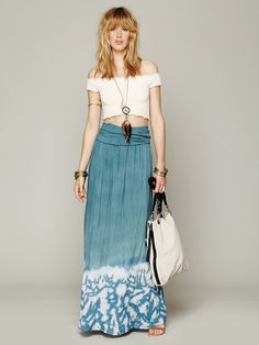 Free People Convertible Tie Dye Skirt. Tie dye I can actually handle.
