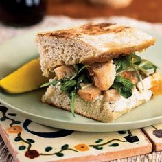 Jazz up sandwich night with leftover chicken and store-bought fig jam. If you do not have a sandwich press or cast-iron skillet, place a...