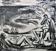 Δαγκλής Χρίστος – Christos Daglis [1916-1991] | paletaart – Χρώμα & Φώς Abstract, Artwork, Summary, Work Of Art, Auguste Rodin Artwork, Artworks, Illustrators