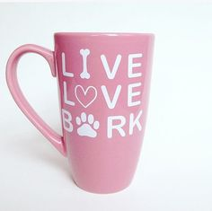 Dog Lover Gift Live Love Bark Coffee Mug by KayInspirationGifts