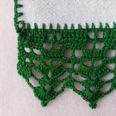 Pano de Prato – Barrado em Crochê – Modelo 04