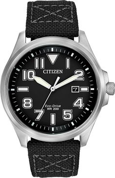 For a rugged look with a comfortable fit, this CITIZEN® military-inspired timepiece fits the bill. #BetterStartsNow