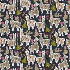 Shaggy Rainbow Llamas fabric by mag-o on Spoonflower - custom fabric