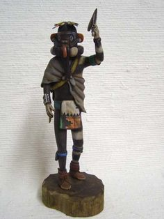 Kachina House offers many Native American Creations, including this Native American Hopi Carved Left Handed Hunter Katsina Doll! Cigar Store Indian, Native American Artists, American Indians, Native Art, Nativity, Character Design, Carving, Sculpture, Dolls