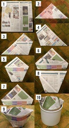 DIY trash can liner. To throw away those non-plastic waste items you might still have ☺ Ha! DIY trash can liner. To throw away those non-plastic waste items you might still have ☺ in any case, saves a plastic bag!