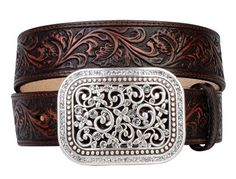 BESTSELLER! Ariat 6957 Women`s Rhinestone Filagree Dark Brown Western Belt $49.95