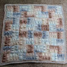 Seersucker Crochet Baby Blanket | Crochet Pattern | YouCanMakeThis.com