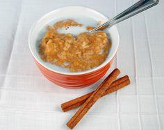 Pumpkin pie oatmeal! Yes, please.