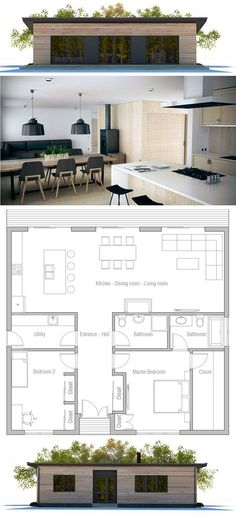 two bedroom house plan - Bungalow Floor Plans