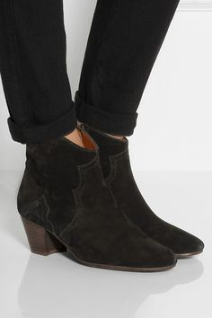 Isabel Marant the dicker suede ankle boots.