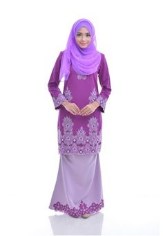 Maribeli Butik Melia Kurung - Dark Purple Baby Purple from Maribeli Butik in Purple Fisha Modern Kurung is the latest collections from MARIBELI BUTIK made of a very high quality, comfortable to wear, and very nice cotton material.- Perfect tailor made.- High quality cotton- Latest design- Suitable for all occa... #bajukurung #bajukurungmoden