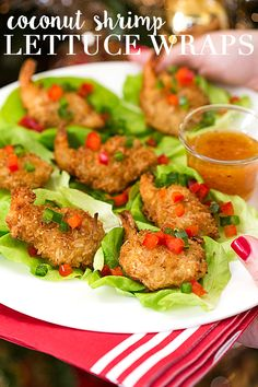 Holiday Appetizer: Coconut Shrimp Lettuce Wraps