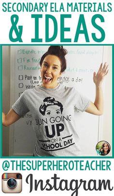Follow @thesuperheroteacher on Instagram! Middle School Reading, Middle School English, Middle School Teachers, English Language, Language Arts, Superhero Teacher, High School Activities, Education English, Teaching English