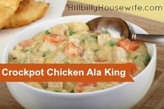 Crockpot Chicken Ala King Recipe | Hillbilly Housewife
