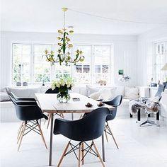 #diningroom #eameseiffelchair #eameseiffelchair #amazinglightfitting #white #love #inspired