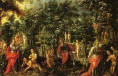 Adán y Eva en el Paraíso (Adam and Eve in Paradise), Cristóbal de Villalpando (ca. 1649 - 1714)