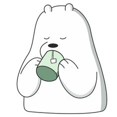 We Bare Bears Wallpapers, Baby Polar Bears, Outline Art, We Bear, Bear Wallpaper, Creative Instagram Stories, Ice Ice Baby, Cute Cartoon Wallpapers, Green Day