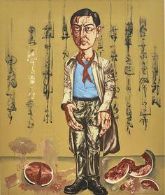 1996 SELF-PORTRAIT, Zeng Fanzhi (曾梵志; b1964, Wuhan, Hubei Province, China; based in Beijing)