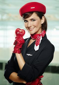 Air Berlin Model: Judith Berger ~ World stewardess Crews