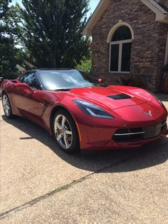 C7 Corvette Stingray. Crystal Metallic Red. Ideas