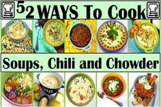 Inspired By eRecipeCards: 52 Recipes for Soup, Chili or Chowder