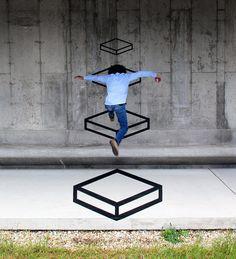 Aakash Nihalani – Creates street art with tape