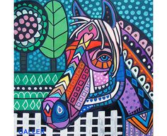 Hey, I found this really awesome Etsy listing at https://www.etsy.com/listing/207749918/horse-original-painting-by-heather