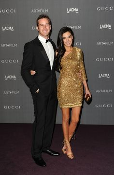 Armie Hammer and his wife Elizabeth Chambers at LACMA Art + Film Gala 2012 via LuxeCrush.com