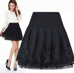Cheap skirt swimsuit, Buy Quality skirt pleated directly from China skirt definition Suppliers: 2017 Tulle faldas Curta Saia De Renda Femininas High Waist Short Lace Tutu Skirt Female Pleated Women Skirts saias jupe Lila Outfits, Skirt Outfits, Dress Skirt, Skirt Pleated, Emo Outfits, Skater Skirt, Women's Dresses, Girls Dresses, Party Dresses