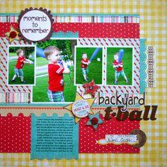 Backyard T-Ball - Scrapbook.com